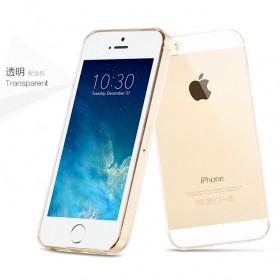 Ультра тонкий TPU чехол HOCO Light Series для Apple iPhone SE / 5 / 5s (0.6mm Прозрачный)