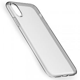 Ультра тонкий TPU чехол HOCO Light Series для iPhone X (Slim Прозрачный | Серый)