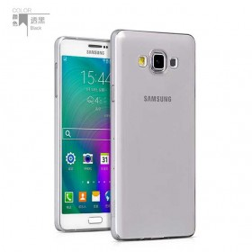 Ультра тонкий TPU чехол HOCO Light Series для Samsung Galaxy A7 (0.6mm Черный)
