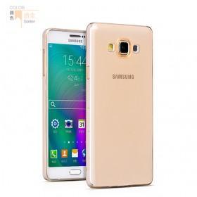 Ультра тонкий TPU чехол HOCO Light Series для Samsung Galaxy A7 (0.6mm Золото)