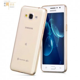 Ультра тонкий TPU чехол HOCO Light Series для Samsung Galaxy Grand Prime (0.6mm Золото)