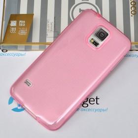 Ультра тонкий TPU чехол HOCO Light Series для Samsung Galaxy S5 (0.6mm Красный / Rose Red)