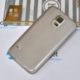 Ультра тонкий TPU чехол HOCO Light Series для Samsung Galaxy S5 (0.6mm Прозрачный Черный)