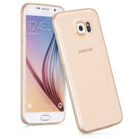 Ультра тонкий TPU чехол HOCO Light Series для Sansung Galaxy S6 (0.6mm Золотой)