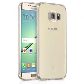 Ультра тонкий TPU чехол HOCO Light Series для Sansung Galaxy S6 Edge (0.6mm Белый)