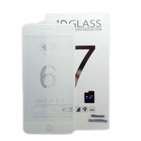 Защитная пленка Стекло 4D для iPhone 7 Plus Белое