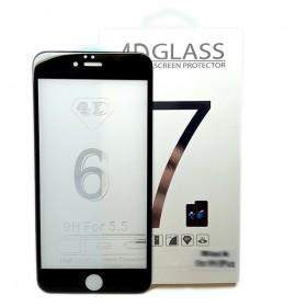 Защитная пленка Стекло 4D для iPhone 7 Plus Черное