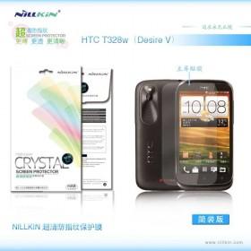 Защитная пленка Nillkin Crystal для HTC Desire V (T328w) (Анти-отпечатки)