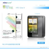 Защитная пленка Nillkin Crystal для HTC One V (T320e) (Анти-отпечатки)
