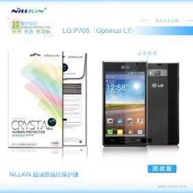 Защитная пленка Nillkin Crystal для LG Optimus L7 P705 Black / White (Анти-отпечатки)