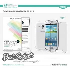 Защитная пленка Nillkin Crystal для Samsung i8190 Galaxy S 3 Mini (Анти-отпечатки)