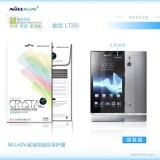 Защитная пленка Nillkin Crystal для Sony Xperia P lt22i (Анти-отпечатки)