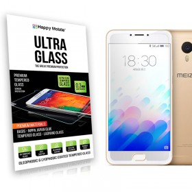 Защитное стекло Hаppy Mobile Ultra Glass Premium 0.3mm,2.5D (Japan Toyo Glue) для Meizu M3 Note