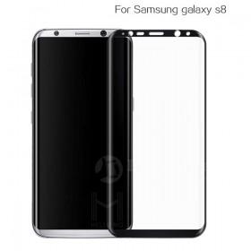 Защитное стекло HelloMo 3d Curved Japan Asahi Glass для Samsung Galaxy S8 (Черная рамка)
