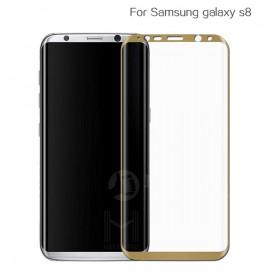 Защитное стекло HelloMo 3d Curved Japan Asahi Glass для Samsung Galaxy S8+ (Золотая рамка)
